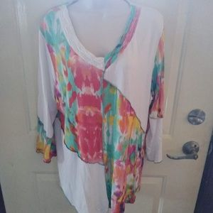 Parsley & Sage White Watercolor Top